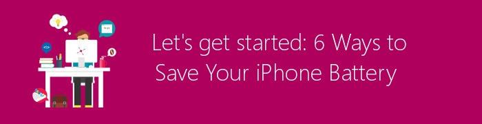 iphone battery saving