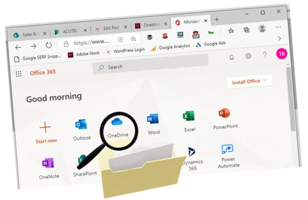 onedrive for remote work